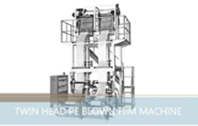 Twin Head PE Blown Film Machine