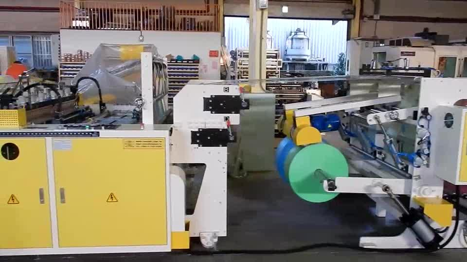 CW-1200P4-SV Super High Speed Fully Automatic 2 or 4 Lines T-shirt Bag Making Machine